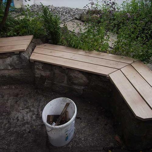 Mauersitzflächen